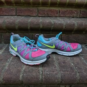 colorful Nike trail shoes